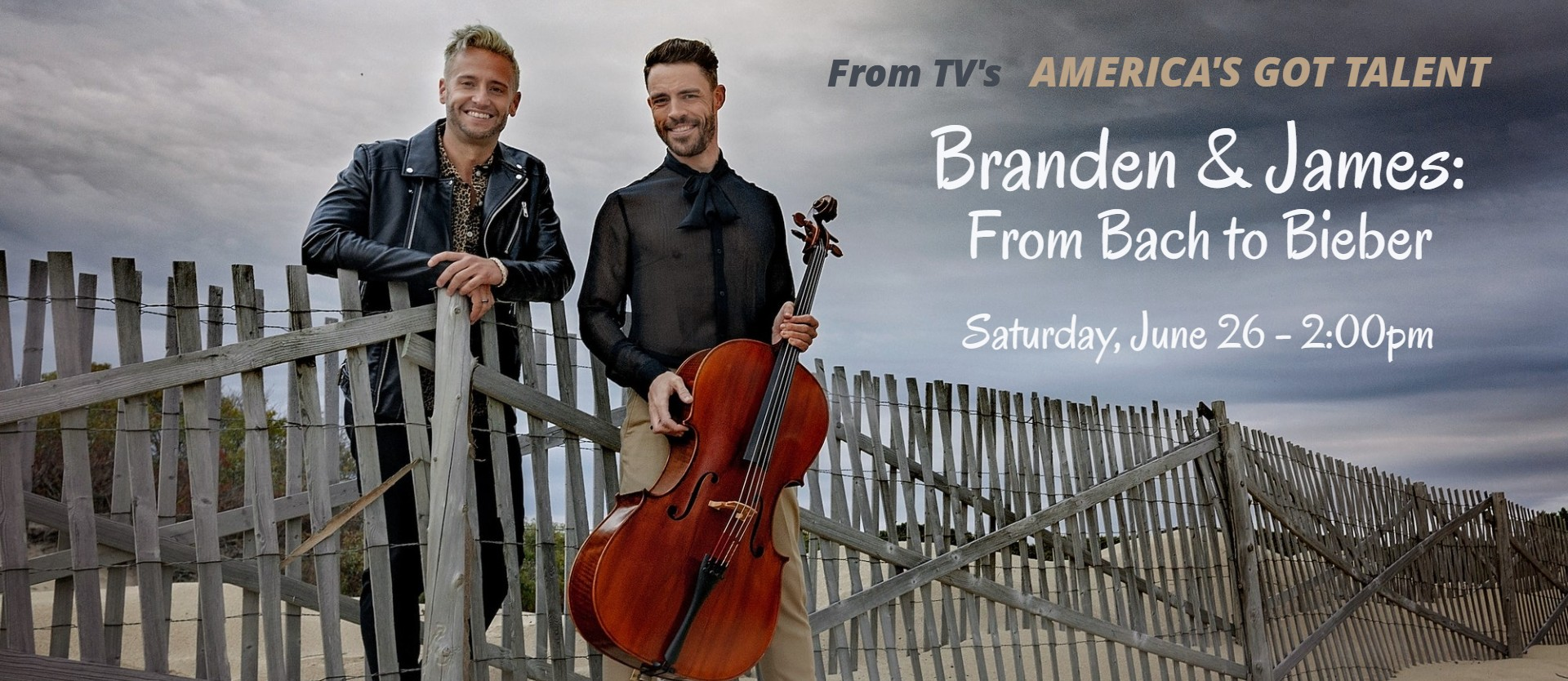 Branden & James - From Bach to Bieber (IN PERSON) - 2pm