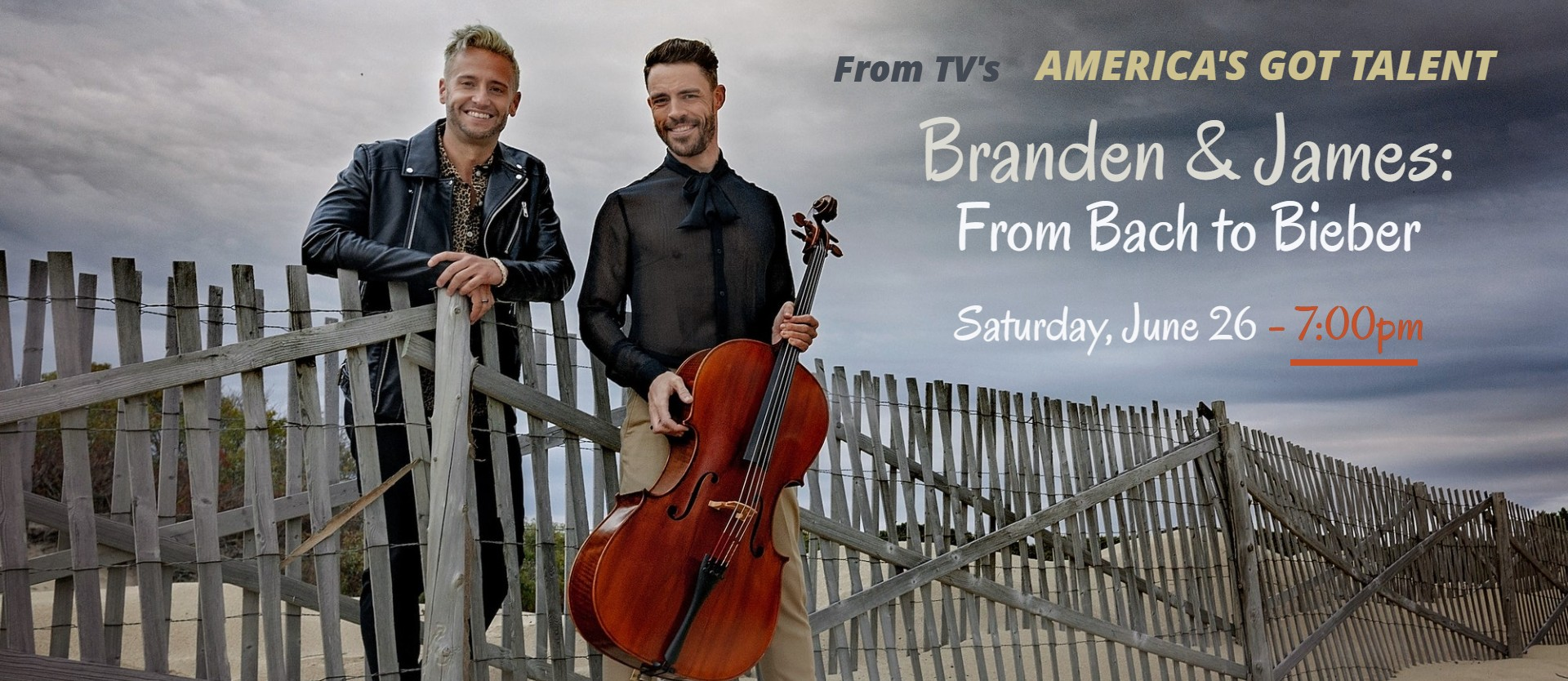 Branden & James - From Bach to Bieber (IN PERSON) - 7:00pm